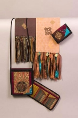 <h5>So many wonderful things!</h5><p>Hand-tied fringe scarves, 3-pocket bag, and 3-fold wallets</p>