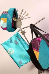"<h5>More wonderful things!</h5><p>""Hippie girl' hat, satin scarf, and doumbec (drum) bag.</p>"